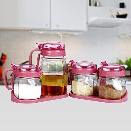 Xcjjj Caja de condimentos Cajas de condimentos de plástico, Cajas de condimentos de vidrio,