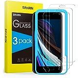 SPARIN 3 Pack Protector de Pantalla Compatible con iPhone SE 2020, iPhone 8, iPhone 7 y iPhone 6s, Sin Cobertura Toda…