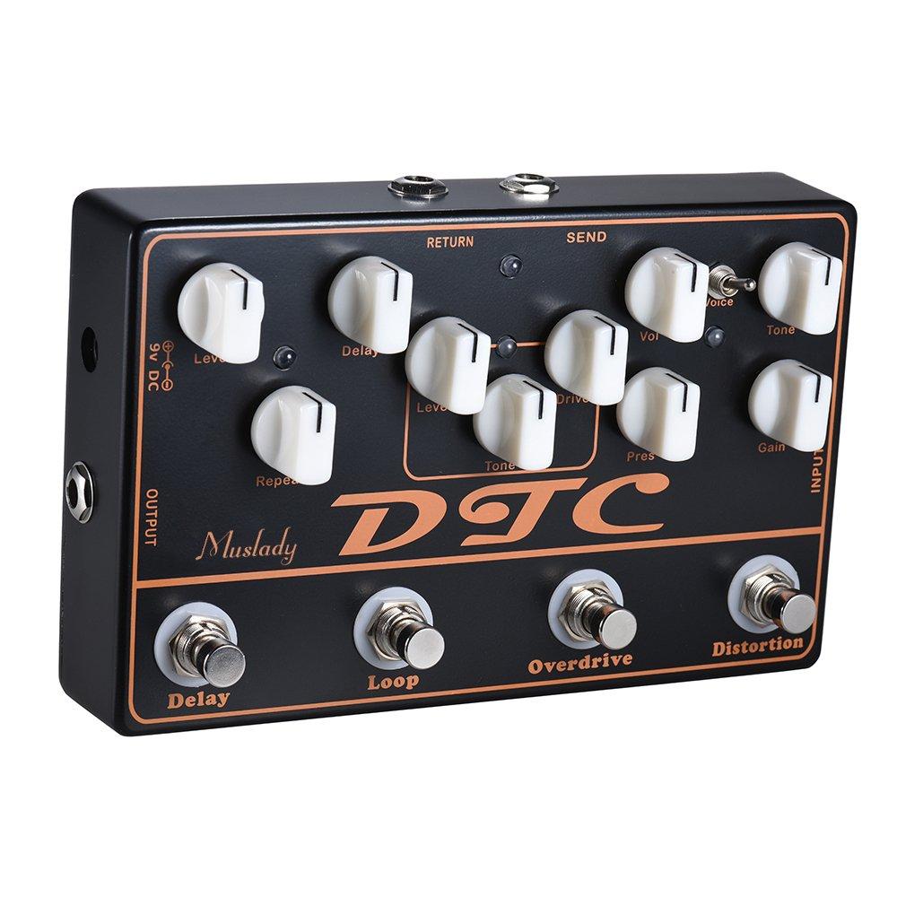 ammoon DTC Pedal de efectos de guitarra eléctrica 4-en-1 Distorsión + Sobremarcha + Loop + Retraso: Amazon.es: Instrumentos musicales