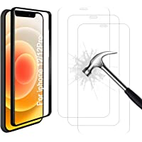 AhaSky - 3 Pack Tempered Glass for iPhone 12 Pro / iPhone 12 Screen Protector, Align Frame, Easy Bubble-Free…