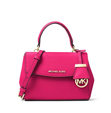 38470f2debbf3 MICHAEL Michael Kors Ava Extra-Small Saffiano Leather Crossbody in Ultra  Pink  Amazon.co.uk  Shoes   Bags