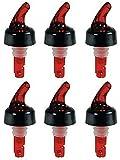 Bartender Gear Pour Spouts Measured Bottle Pourer - Auto-Measuring 1 oz (30 mL) - (6 Pack)