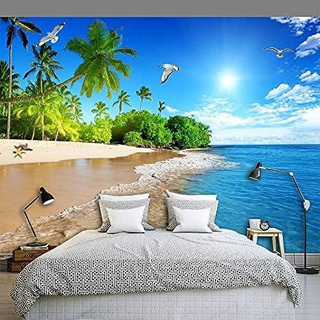 Aliworte 3d Papel Pintado Fond Marin Hd Dormitorio Sala De