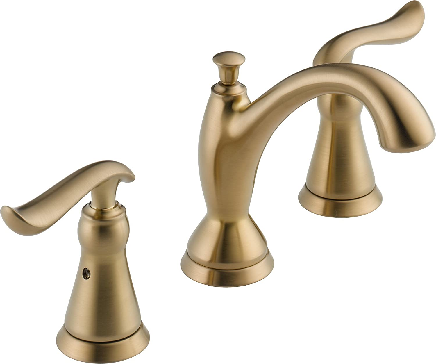 Delta Faucet Linden 2-Handle Widespread Bathroom Faucet with Diamond Seal Technology and Metal Drain Assembly, Champagne Bronze 3594-CZMPU-DST