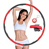 SGODDE Exercise Hoop for Adults Fitness Hoop 8 Section Detachable Design Weighted Hoop for Exercise