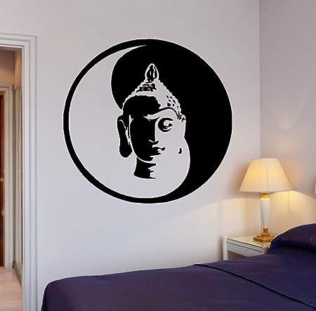 yiyiyaya Etiqueta de la Pared Buda Yin Yang Yoga Meditación Vinilo OM Calcomanía Decoración para el hogar Etiqueta de la Pared para la Sala de Estar 83 57X57CM: Amazon.es: Hogar