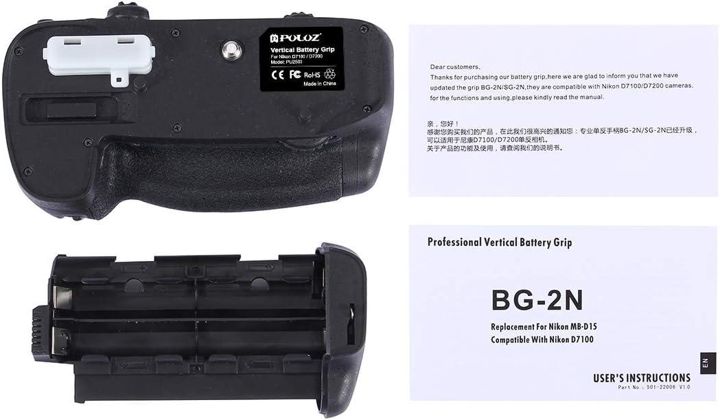 CAOMING Vertical Camera Battery Grip for Nikon D7100 //D7200 Digital SLR Camera Durable
