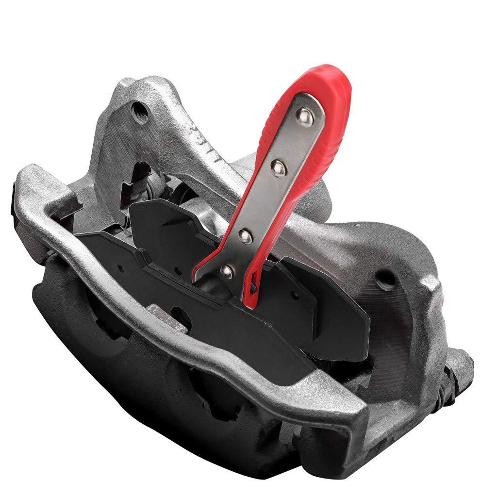 Ecosin Brake Caliper Press,Universal Car Ratcheting Brake Caliper Piston Spreader Press Tool,360 Degree Ratchet Swing Black
