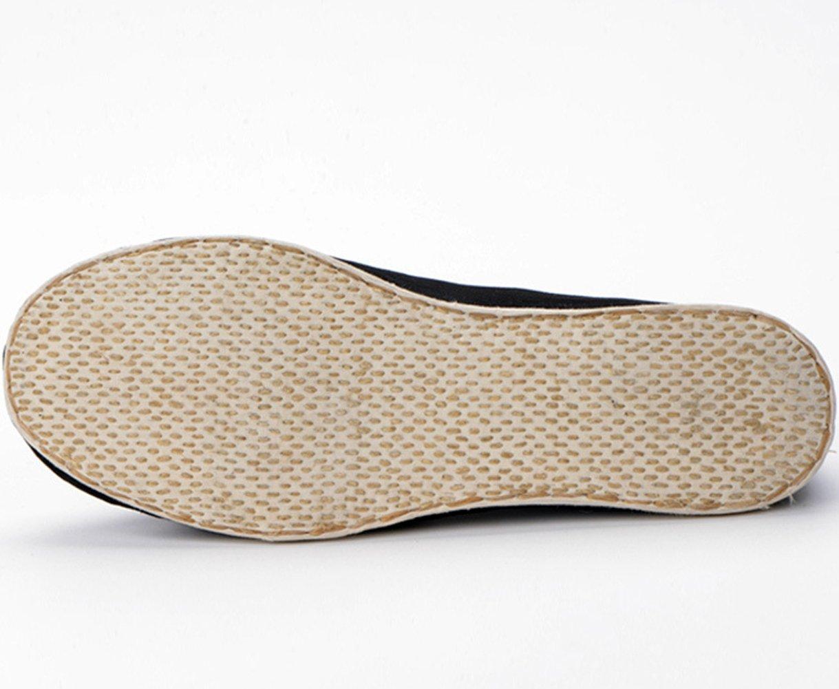 insun Bordado del Hombre Kung Fu Soporte de Zapatos, Color Negro, Talla 40 EU