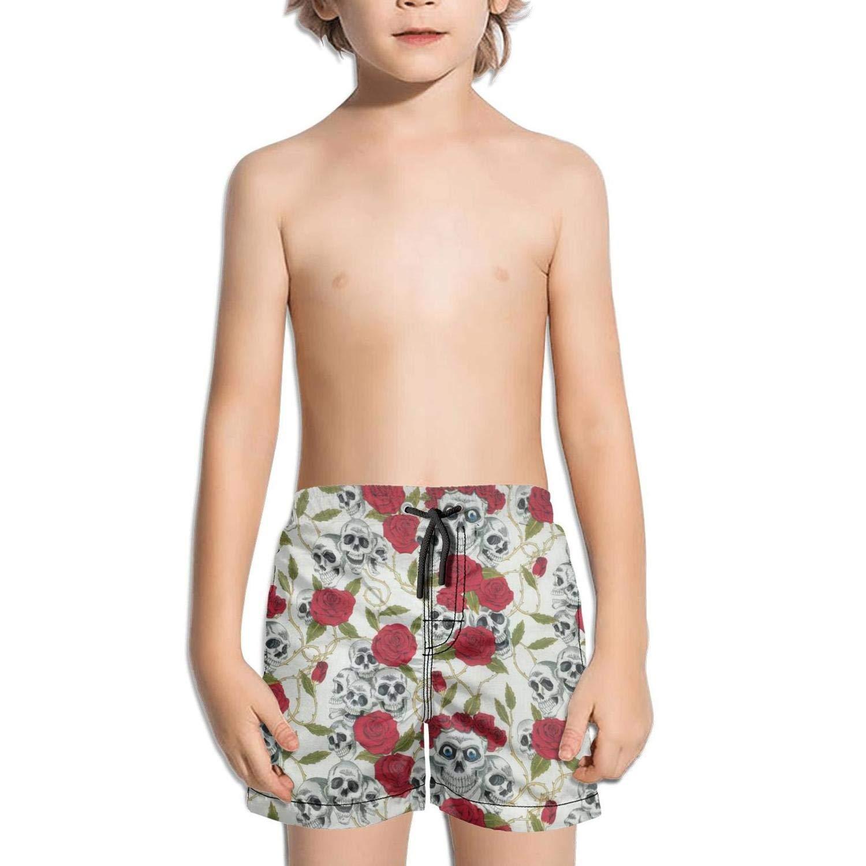 XULANG Kids Boys Girls Pink Pineapple Paint Board Shorts Surf Fitness Cool Boardshorts