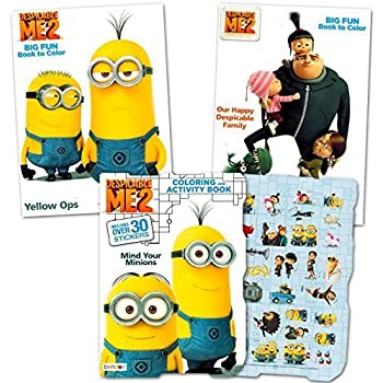 despicable me minions coloring and activity book set with stickers 3 coloring books - Minion Coloring Book