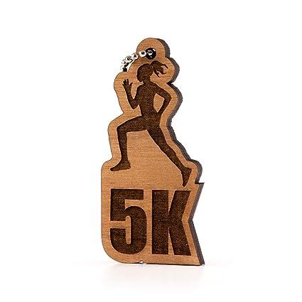 Amazon.com  Sunset Design Lab Womens 5K Running Wood Laser Cut Keychain  Charm Ornament  Automotive fc158967a