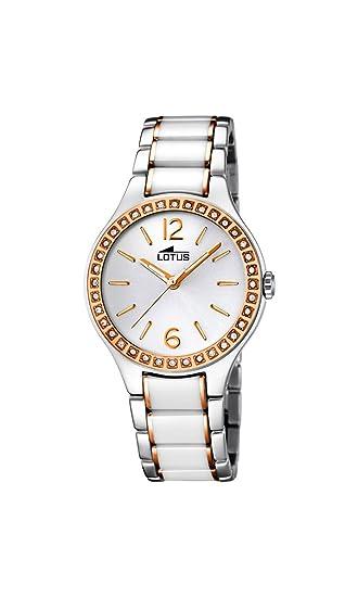 Lotus 15933/4 - Reloj de Pulsera Mujer, Cerámica, Color Blanco: Amazon.es: Relojes