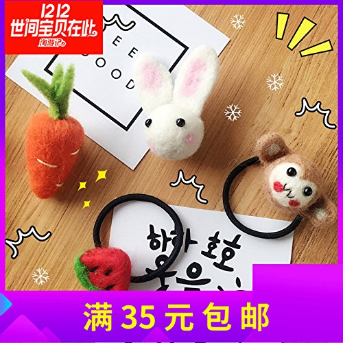 Cartoon soft Meng brooch hair ring head Shengpi tendons felted wool ball cute child student sweater accessories ()