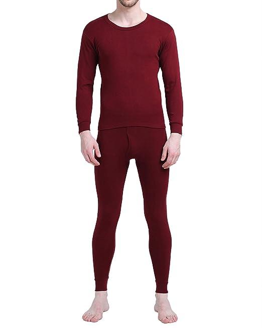 MODCHOK Hombre Conjuntos Térmicos Sets de Pijamas Ropa de Dormir Interior Algodón: Amazon.es: Ropa y accesorios