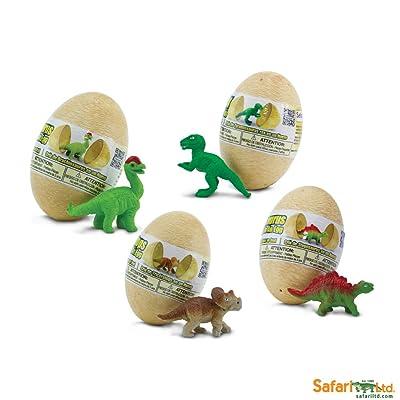Safari S90075 Wild Prehistoric World Dino Baby Eggs Set Miniature: Toys & Games