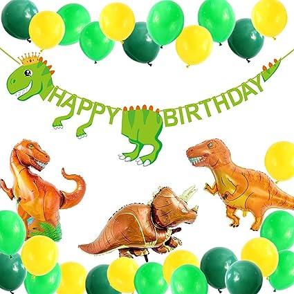 Amazon.com: ALISSAR Dinosaurio suministros de fiesta -49 ...