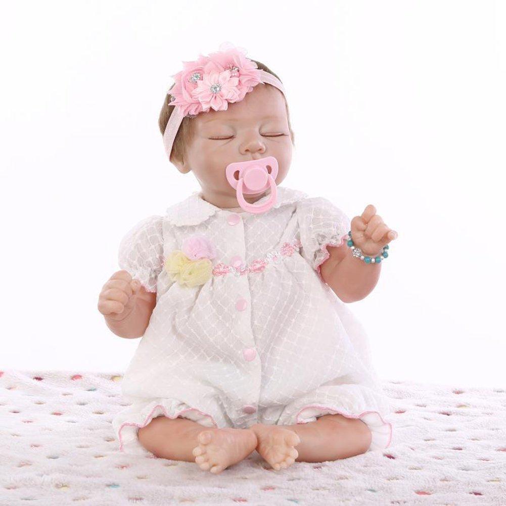 compra en línea hoy Realista Reborn Bebé Muñeca Suave Suave Suave Paño Cuerpo Niño Muñeca Ojo Cerrado Niño Jugar Dormir Juguete Cumpleaños Regalo Festivo HO,A  compra limitada