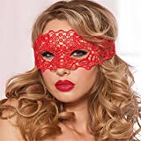 Face mask Shield Veil Guard Screen Domino False Front Halloween Party Black and White Lace mask Sexy Night Club KTV Fun Half face Goggles Infinitive face mask Female red