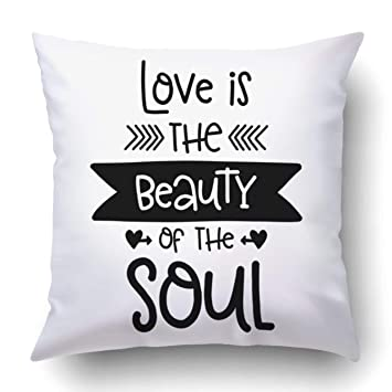 Amazoncom Custom Romantic Text Love Is The Beauty Of The Soul