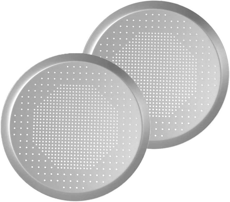 2pcs Round NonStick Perforated Hole Pizza Pan Bakeware Baking Tools 10 inch