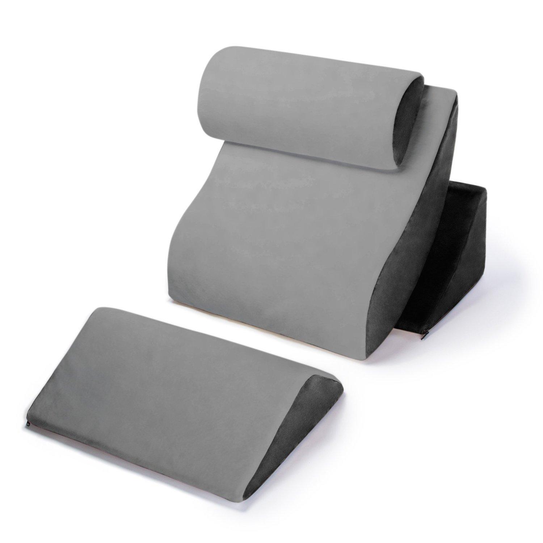 AVANA Orthopedic Support Pillow Kind Bed Comfort System, Grey/Black