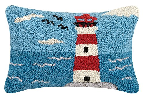 Peking Handicraft Lighthouse Hook, 8x12 Throw Pillow