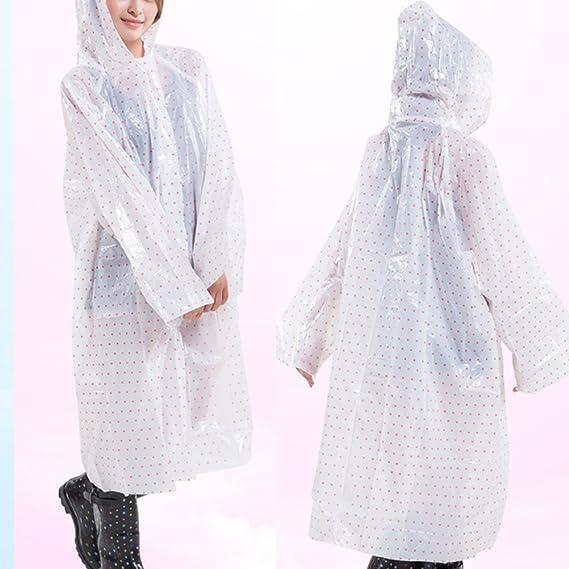 Zhhlaixing Fashion Wave point Transparent Waterproof Raincoat Disposable  Raincoat: Amazon.de: Bekleidung