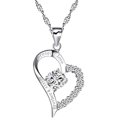 Amazon Sterling Silver Heart Brother And Sister Forever Love