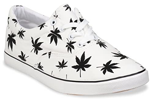 5d23a059d4c9 Amazon.com | Hipster Mens Marijuana Weed Leaf Skate Shoe | Fashion ...