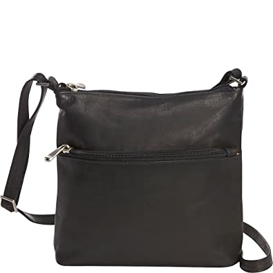 Le Donne Leather Ursula Crossbody (Black)  Handbags  Amazon.com 0b169337ba6f5