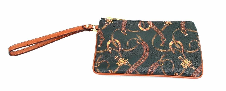 14f3d256dd10 Ralph Lauren Caldwell Wristlet Faux Leather Equestrian Print (Black) PPR  £95  Amazon.co.uk  Shoes   Bags