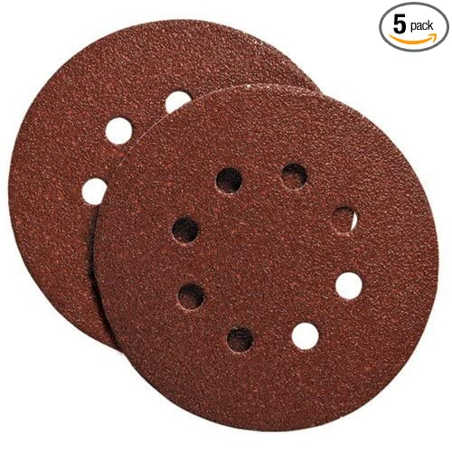 PORTER-CABLE 725800405 No.40 5-Inch Psa 8-Hole Disc 5-Pack