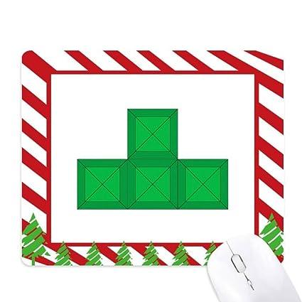 amazon com classic games tetris green block mouse pad candy cane