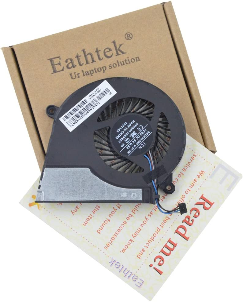 Eathtek Replacement CPU Cooling Fan for HP Pavilion 15-E000 15-E100 15-E043CL 17-E 17-E020DX Series, Compatible Part Number 724870-001 719860-001 725684-001