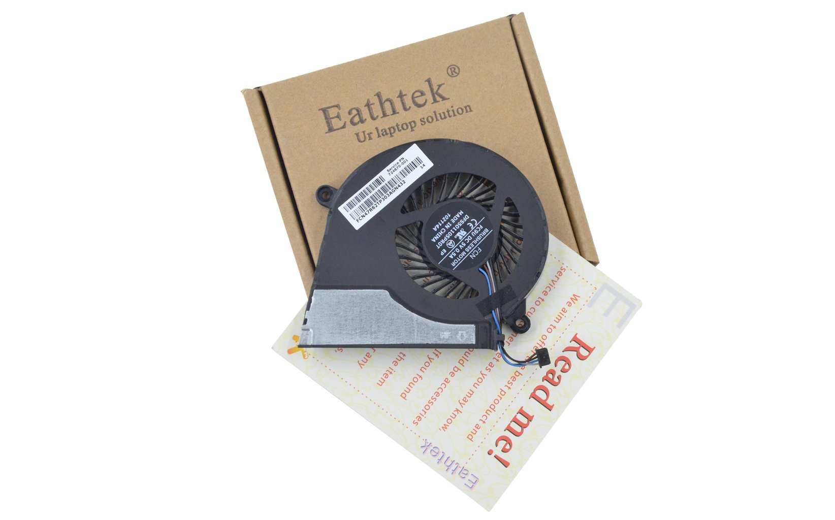 Eathtek Replacement CPU Cooling Fan for HP Pavilion 15-E043CL 17-E020DX 17-e184nr 17-e185nr 17-e186nr 17-e187nr 17-e072nr 17-e073nr 17-e074nr 17-e013nr 17-e014nr 17-e016dx 724870-001 725684-001 series