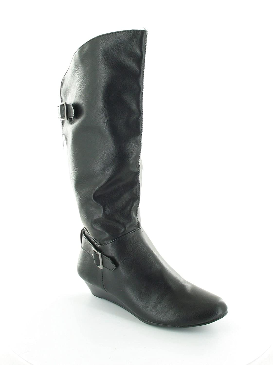 Style /& Co Hoorah Womens Size 5.5 Black Fashion Knee-High Boots
