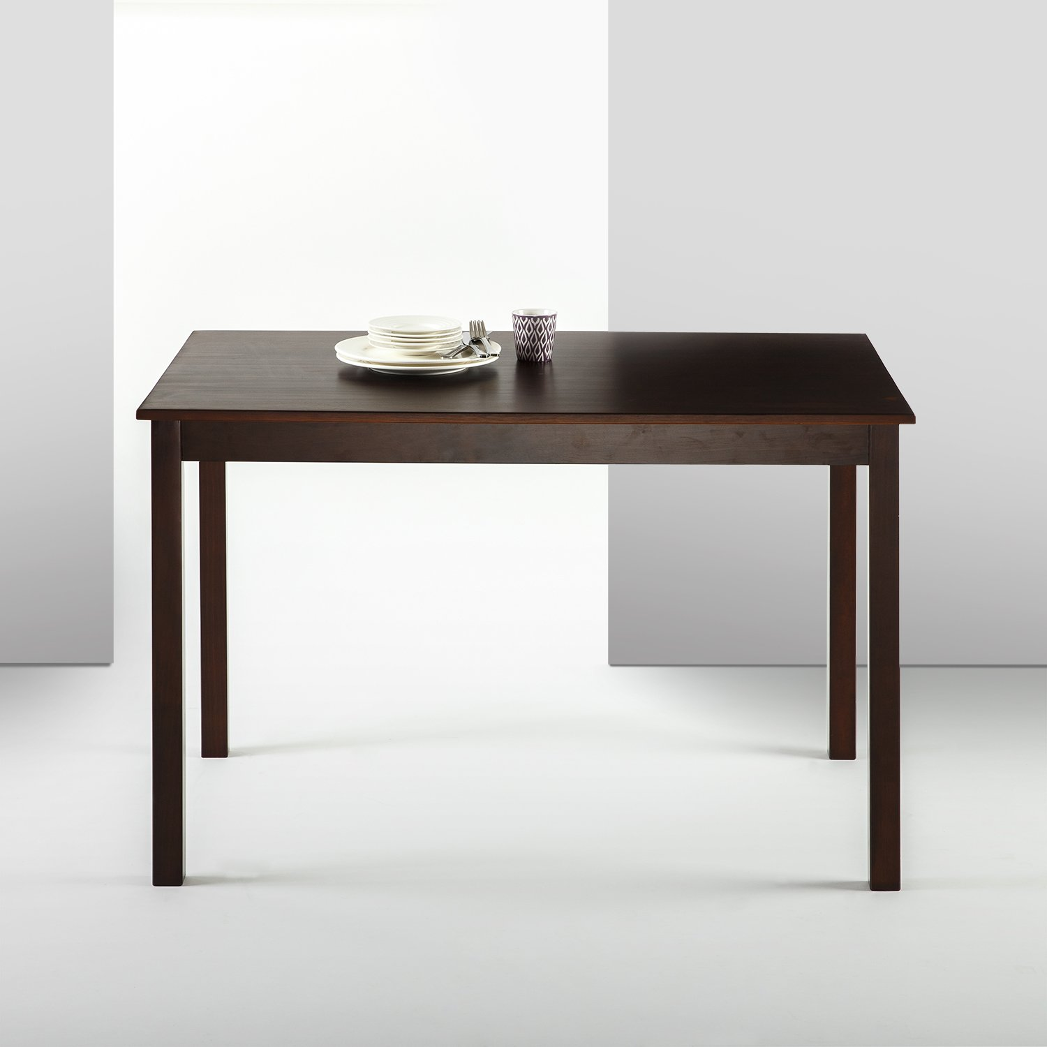 Zinus Espresso Wood Dining Table Only