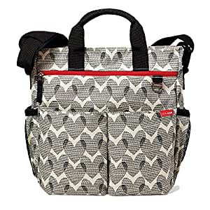 Skip Hop Duo Signature Carry All Travel Diaper Bag Tote with Multipockets, One Size, Hearts