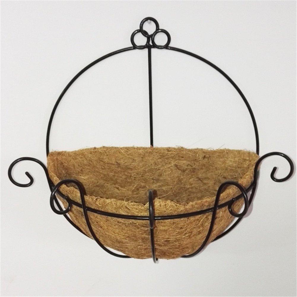 Simonshop Home Art Hanging Basket Flowerpot Plants Flower Holder Organizer for Wedding Decoration (Style 2)