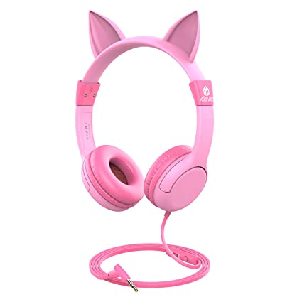 c605a2b4a54 [2019 Upgrade]iClever Boostcare Kids Headphones Girls - Cat Ear Hello Kitty Wired  Headphones