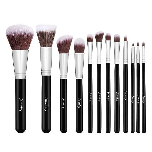 126 opinioni per Sunnicy 12 pezzi Set di pennelli premium sintetici Kabuki per il make up per