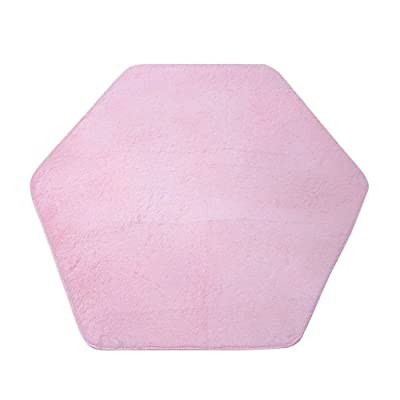Kids Play Tent Mat Hexagon Coral Fleece Rug Bedroom Floor Pad Mat Cushion for Girls Children Princess Castle Rug Playhouse Indoor Pink: Industrial & Scientific