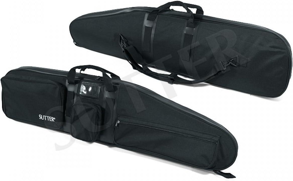 SUTTER Funda para Armas Premium 125x35x12cm en Negro - Funda para Armas con Cerradura Maletín para Armas