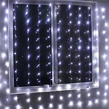 Curtains Ideas curtain lights for bedroom : EXCELVAN 3Mx3M 300LED Outdoor/Indoor LED Fairy String: Amazon.co ...