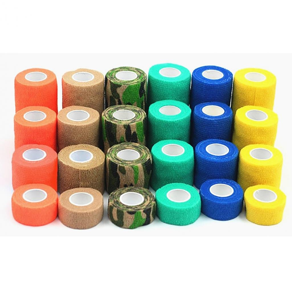 SoundsBeauty Cohesive Self Adherent Elastic Bandage Breathable Wrap Tape for Pet Dog Cat - Random Color M