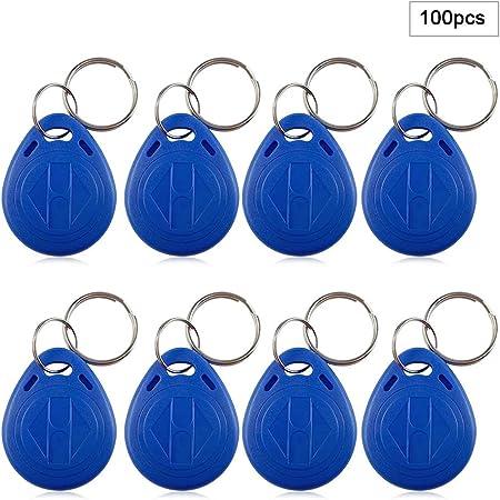 100pcs RFID Keychain FOB 125KHz Proximity ID Card Access for Door Control Reader