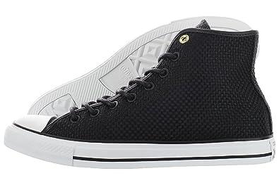 0b1e3071d35 Converse Men s Chuck Taylor All Star Hi Sneaker Shoes Black Black   White  11.5 B