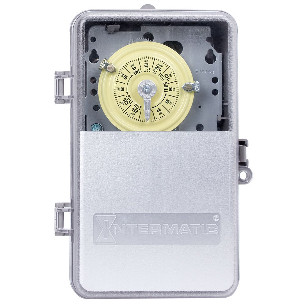 Intermatic T103PCD82 DPST Electromechanical 24-Hour Timer by Intermatic