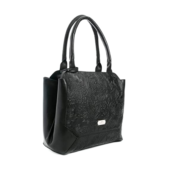 Velez Womens Beautiful Genuine Colombian Leather Handbags Reusable Tote Shop Bags | Carteras y Bolsos de Cuero Colombiano Mujer Black: Handbags: Amazon.com